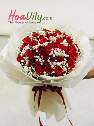 Bó hồng hoa baby - Mùa xuân cho em