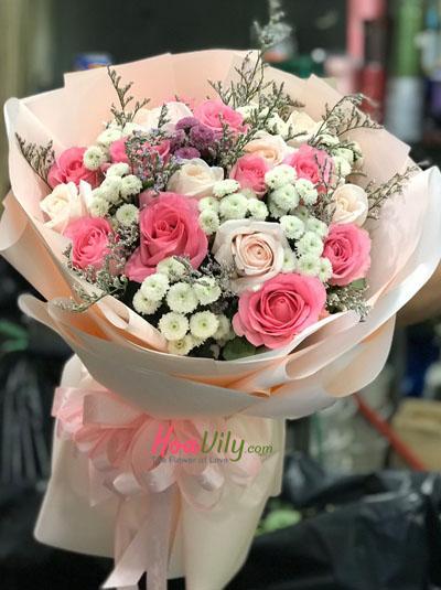 Bó hồng ngọt ngào