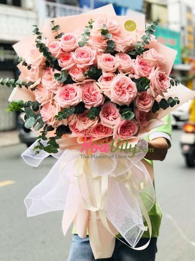 Bó hồng Ohara tuyệt đẹp