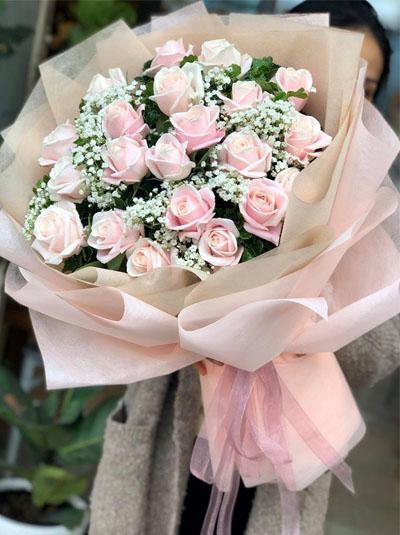 Bó hồng pastel tặng nàng