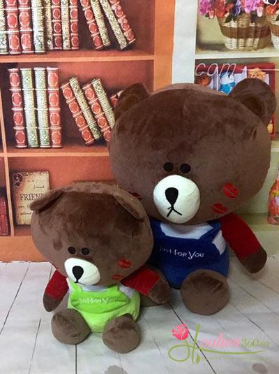Gấu bông mặc áo I love you 40cm