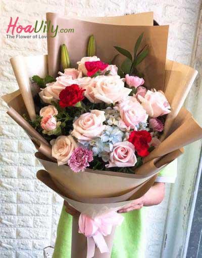 Hoa bó đẹp- Hương  đêm bay xa