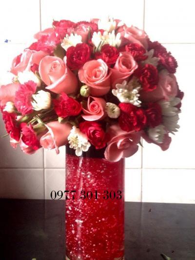 Hoa cắm bình 17_Hoa Tươi 360