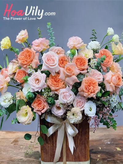 Hoa chúc mừng - muôn sắc hồng