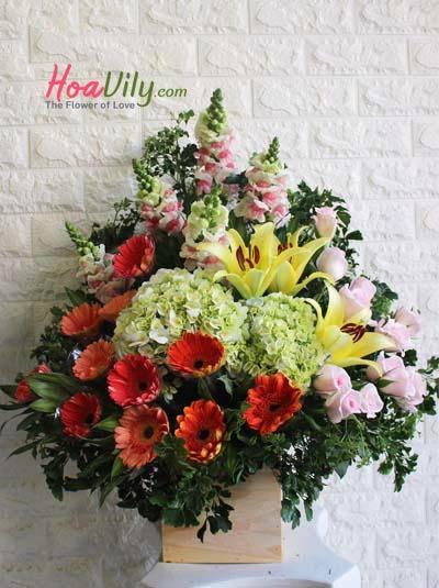 Hoa chúc mừng phong cách truyền thống