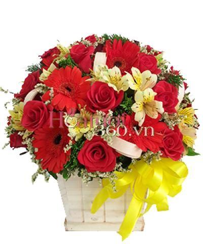 Hoa đỏ 01 _Hoa tươi 360