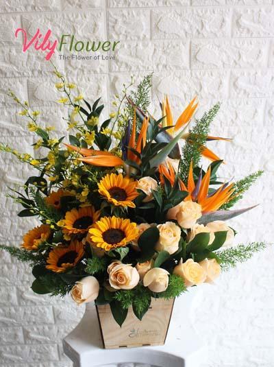 Hoa hộp gỗ - Hộp hoa tươi đẹp nhất