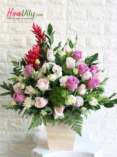 Hoa hộp gỗ- Niềm tin yêu