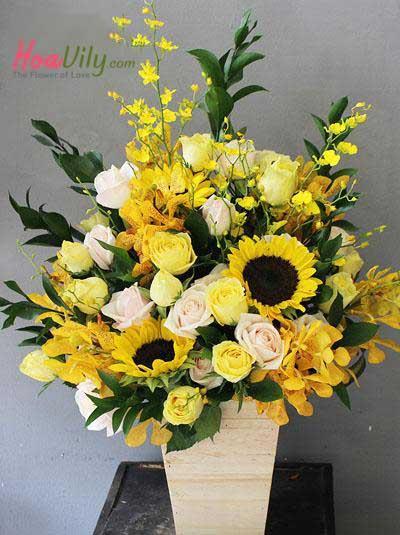 Hoa hộp gỗ- phồn vinh