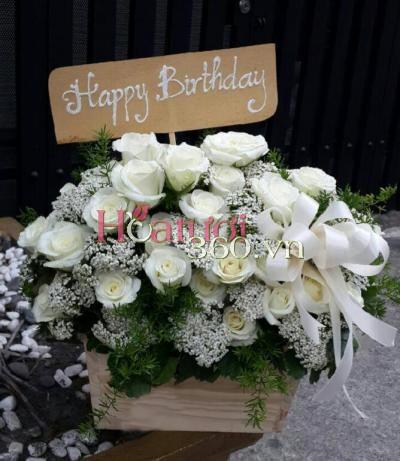Hoa màu trắng 02_Hoa Tươi 360