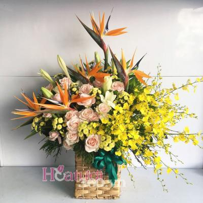 Hộp hoa chúc mừng - Hân hoan 1