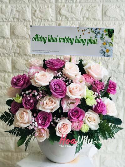 Hộp hoa chúc mừng - Ngày mới