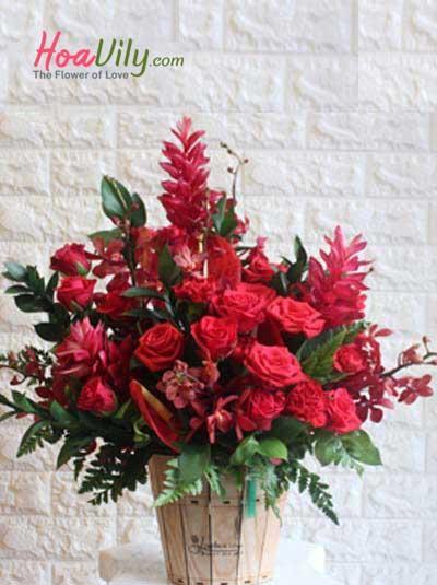Hộp hoa chúc mừng - Niềm vui