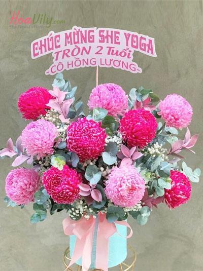 Hộp hoa cúc mẫu đơn - Ngọt ngào