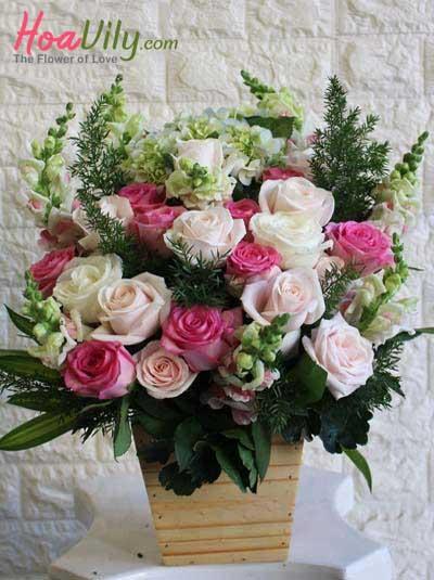 Hộp hoa sinh nhật - Đáng yêu