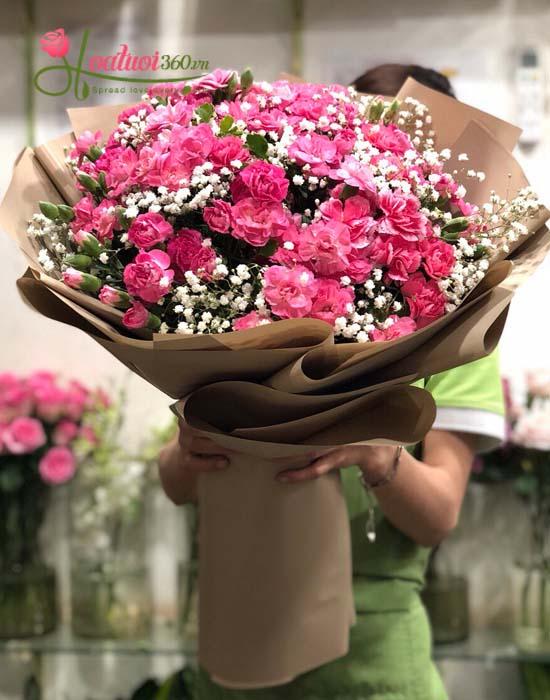 Hoa sinh nhật đẹp - hoa cẩm chướng x baby