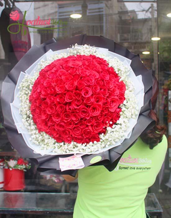 Bó hoa hồng chúc mừng sức khỏe