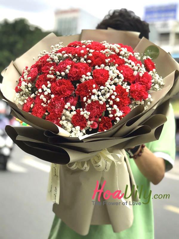 Mẫu hoa tình yêu shop hoa tươi quận tân phú