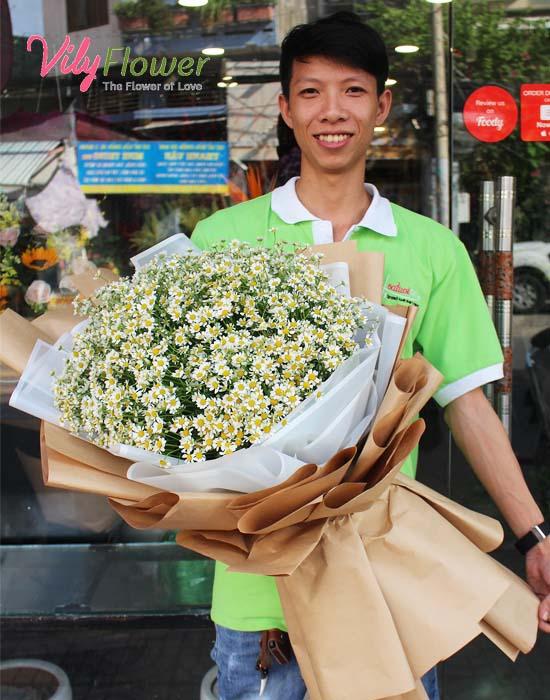Bó hoa cao cấp cúc tana