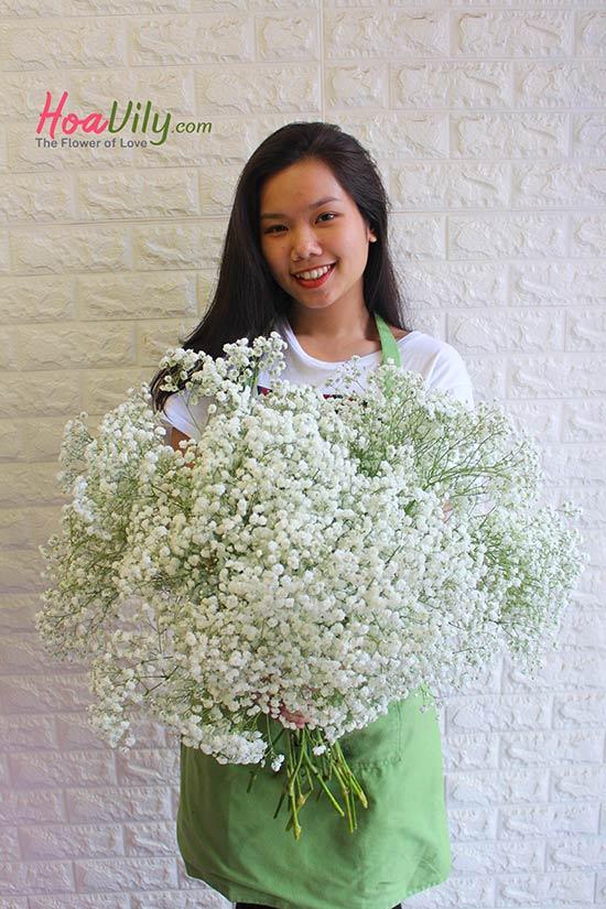 Cách chọn hoa để làm hoa baby khô
