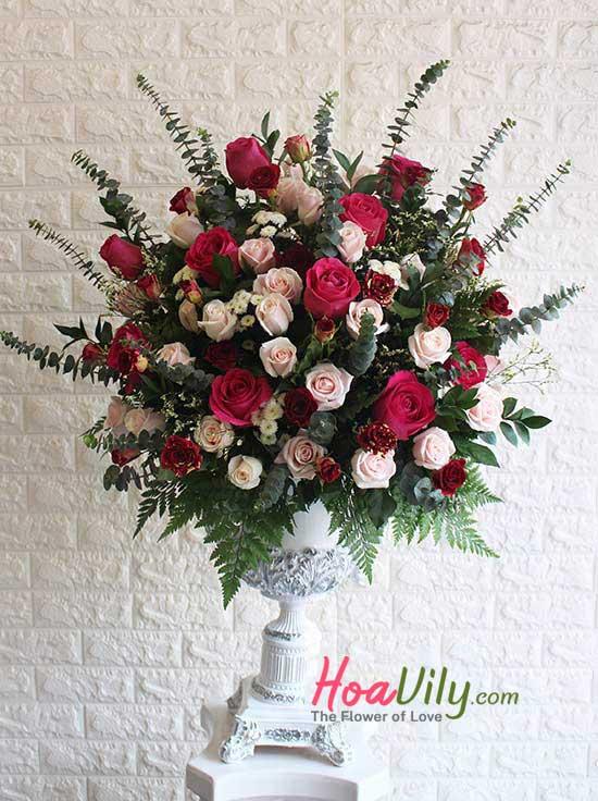 Bình hoa cao cấp chúc mừng sang trọng