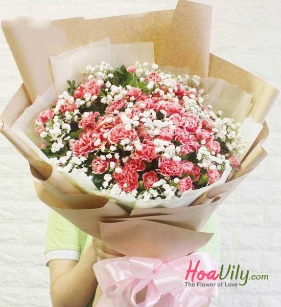 Bó hoa cẩm chướng tặng mẹ