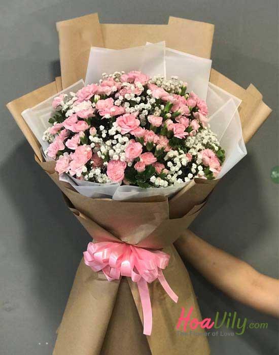 Bó hoa cẩm chướng xin lỗi