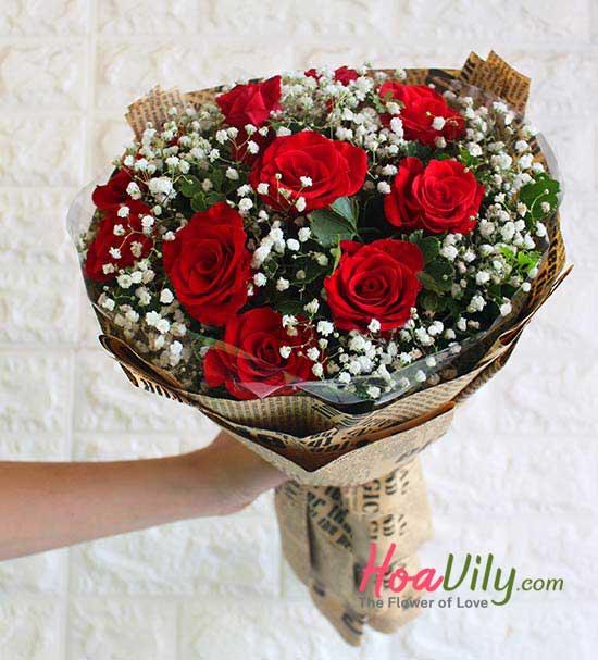 Bó hoa hồng rực rỡ