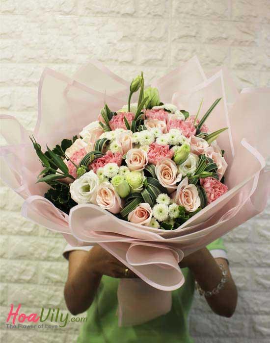 Hoa tình yêu tặng mẹ