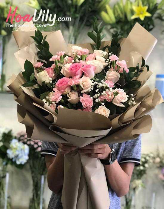 bó hoa tươi tặng mẹ yêu thương