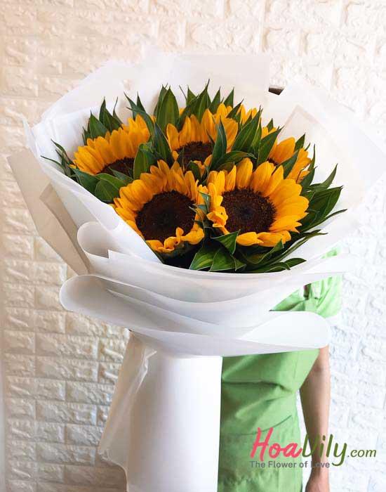 mẫu hoa hướng dương đẹp sang trọng
