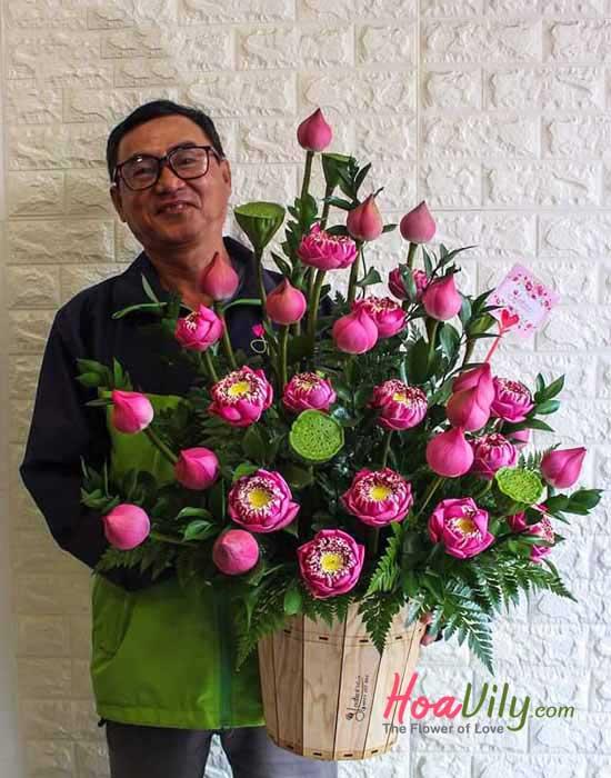 Hoa sen chúc mừng sức khỏe được ưa chuộng nhất