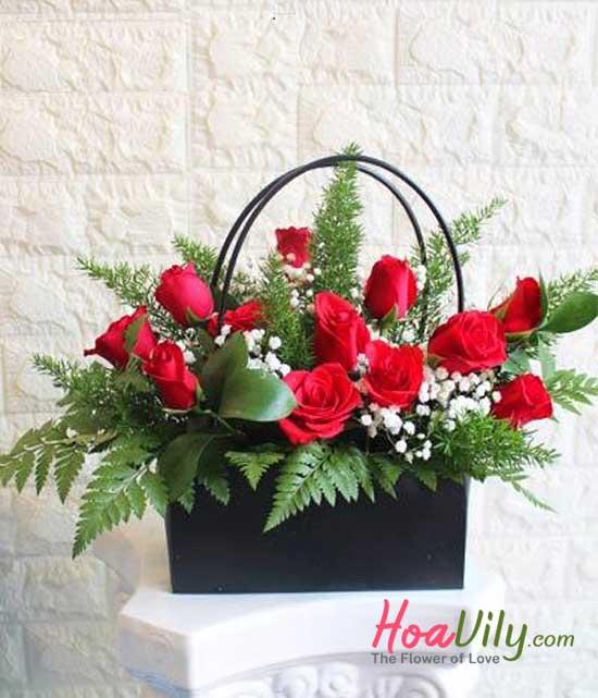 Giỏ hoa tặng mẹ
