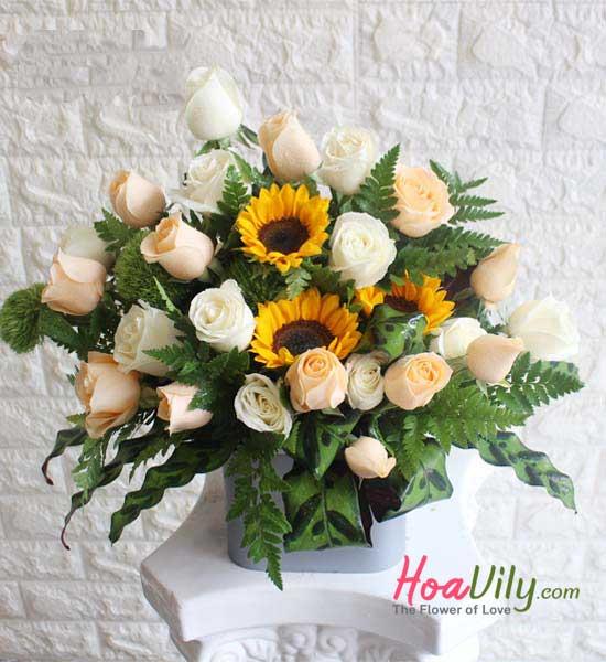 Hoa mừng sức khỏe đơn giản mà tinh tế