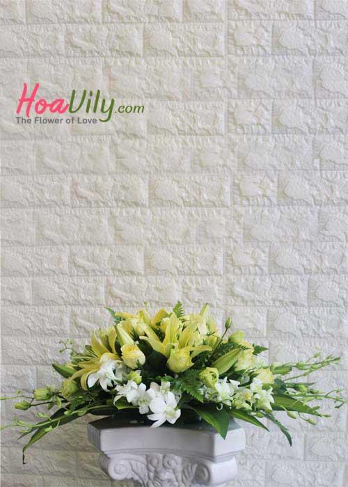 hoa để bàn phong thủy