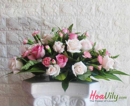 hoa để bàn tiệc