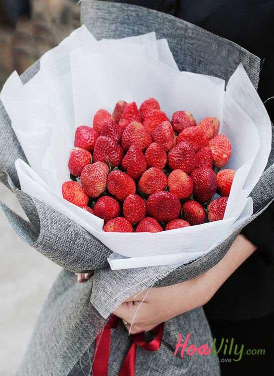 Bó hoa trái cây độc lạ