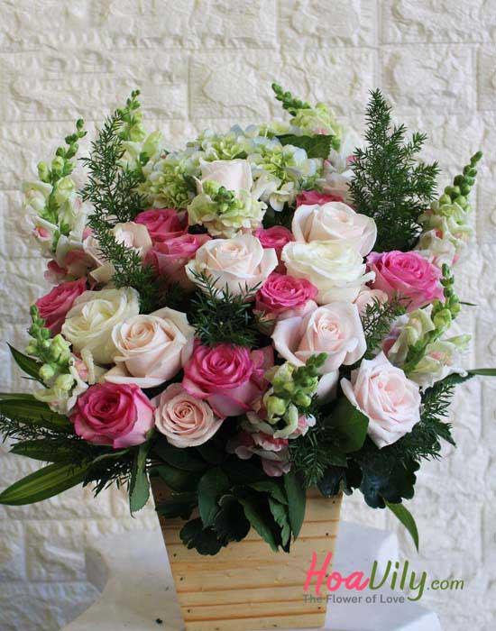 Hộp hoa tặng nhân ngày của mẹ