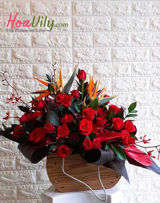Giỏ hoa hồng đẹp tặng sinh nhật