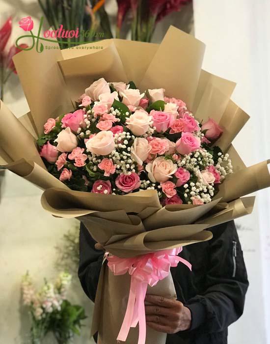 Hoa bó hồng dài đẹp nhất