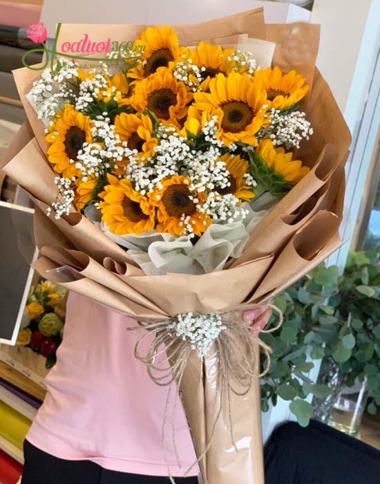 Bó hoa hướng dương dài được yêu thích nhất