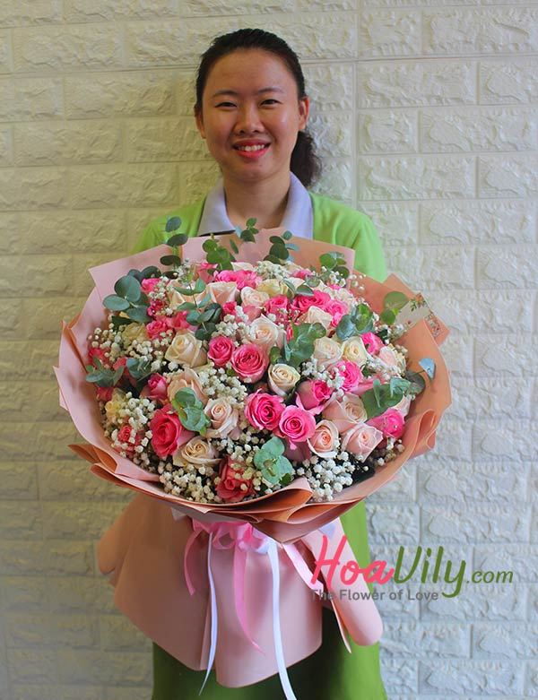 hoa hồng giáng sinh món quà lãng mạn