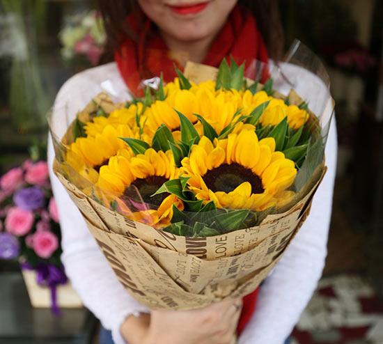 hoa hướng dương bó đẹp