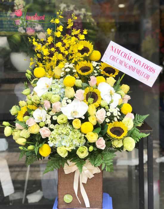 Mẫu hộp hoa tặng cha ý nghĩa