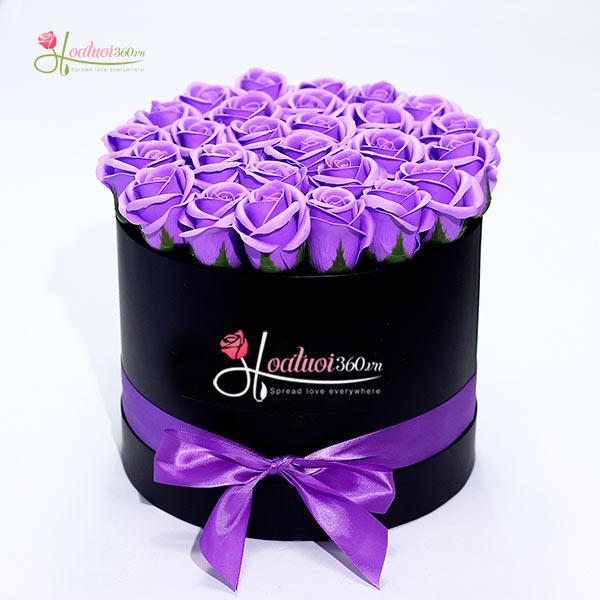 hoa hồng sáp thơm màu tím