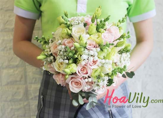 Bó hoa cưới dành cho cô dâu ngày trọng đại
