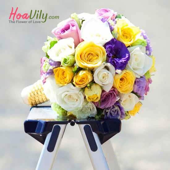 Một bó hoa cưới đẹp thêm phần ý nghĩa cho ngày cưới