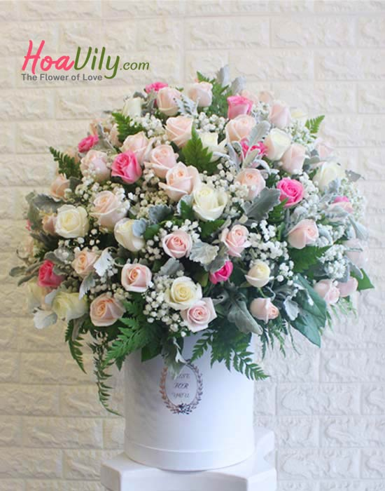 Hộp hoa hồng chúc mừng sức khỏe