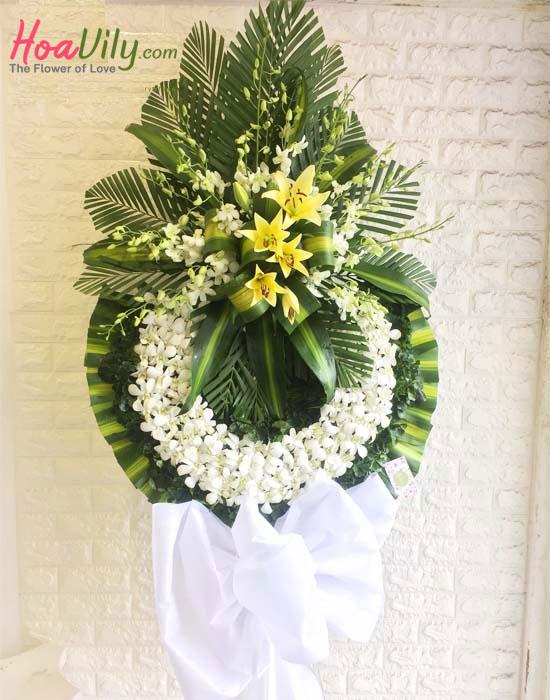 Lẵng hoa tang lễ ở Hàn Quốc
