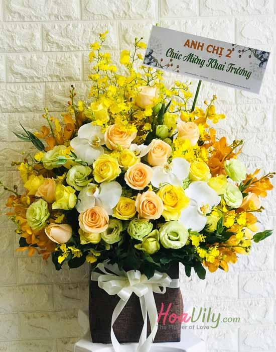 Hộp hoa hồng kết hợp tuyệt đẹp tại quận tân phú